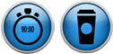 Service Timer & Coffee Icons